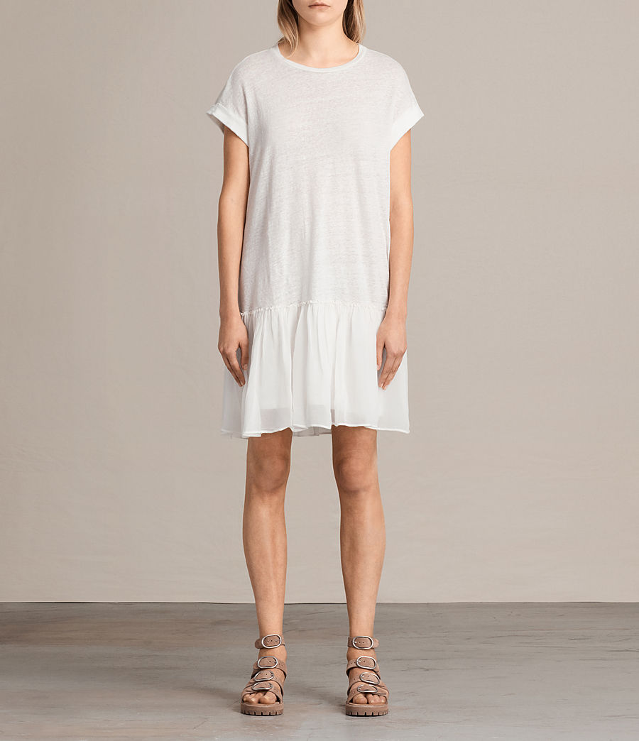Damen Jody Jersey Dress (chalk_white) - Image 1