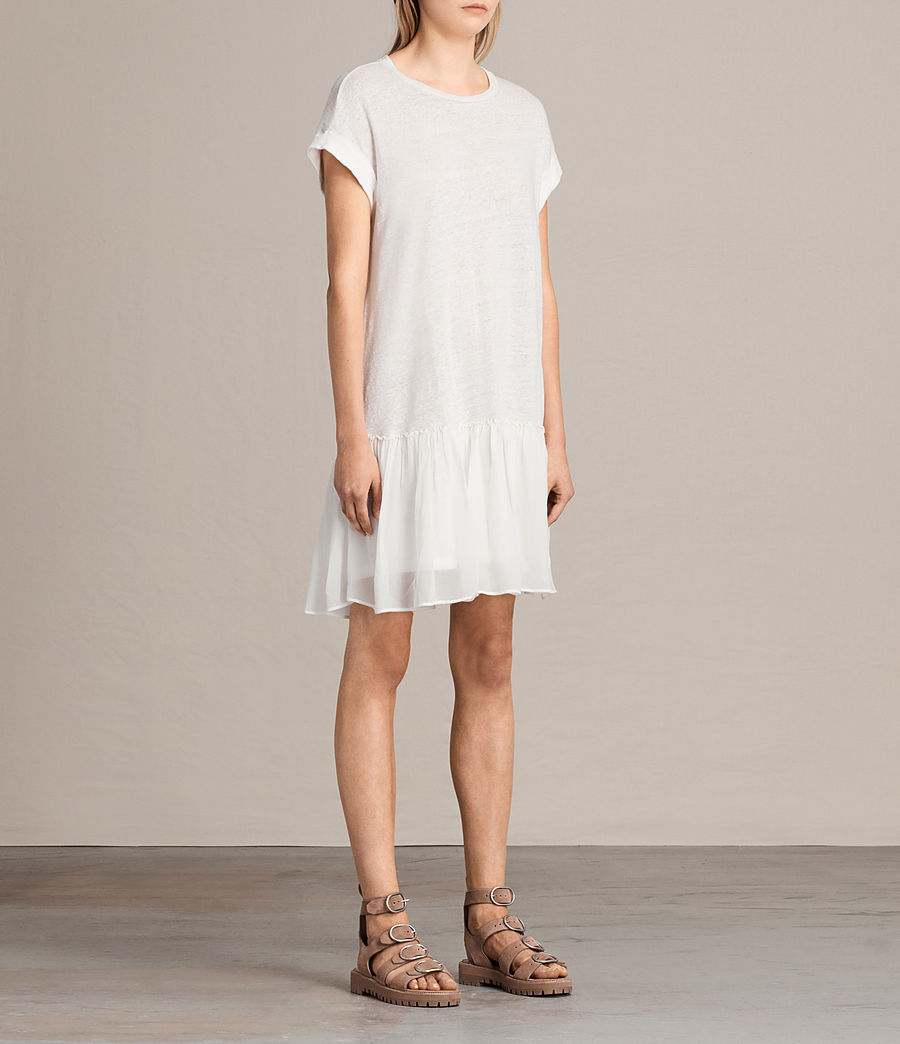 Damen Jody Jersey Dress (chalk_white) - Image 3