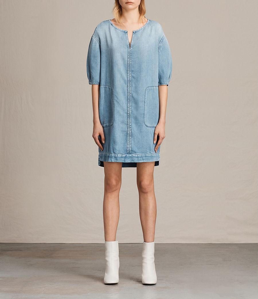 Womens Sherri Dress (mid_indigo_blue) - Image 1