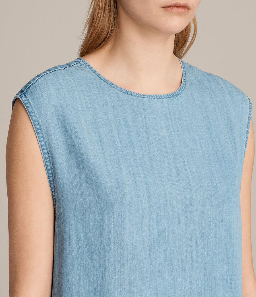 Women's Polly Ruffle Dress (mid_indigo_blue) - Image 2