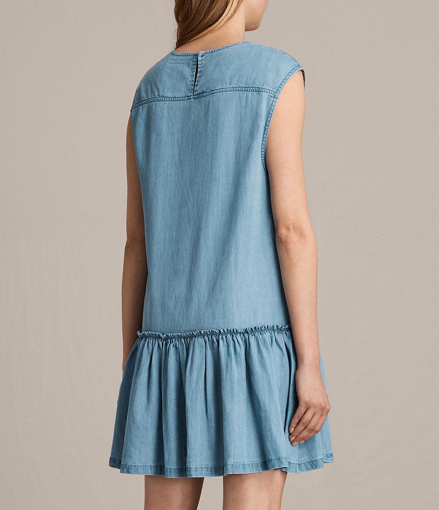 Women's Polly Ruffle Dress (mid_indigo_blue) - Image 7