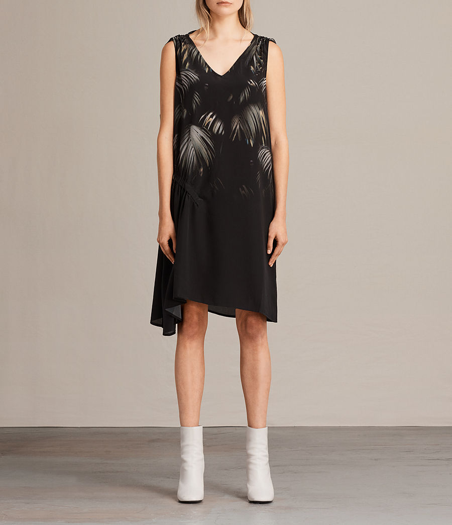 5c351f31f74 ALLSAINTS US  Womens Rye Neluwa Silk Dress (black)