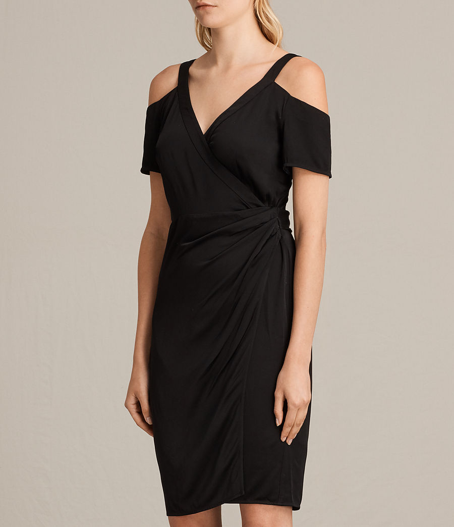 Women's Cadia Dress (black) - Image 4