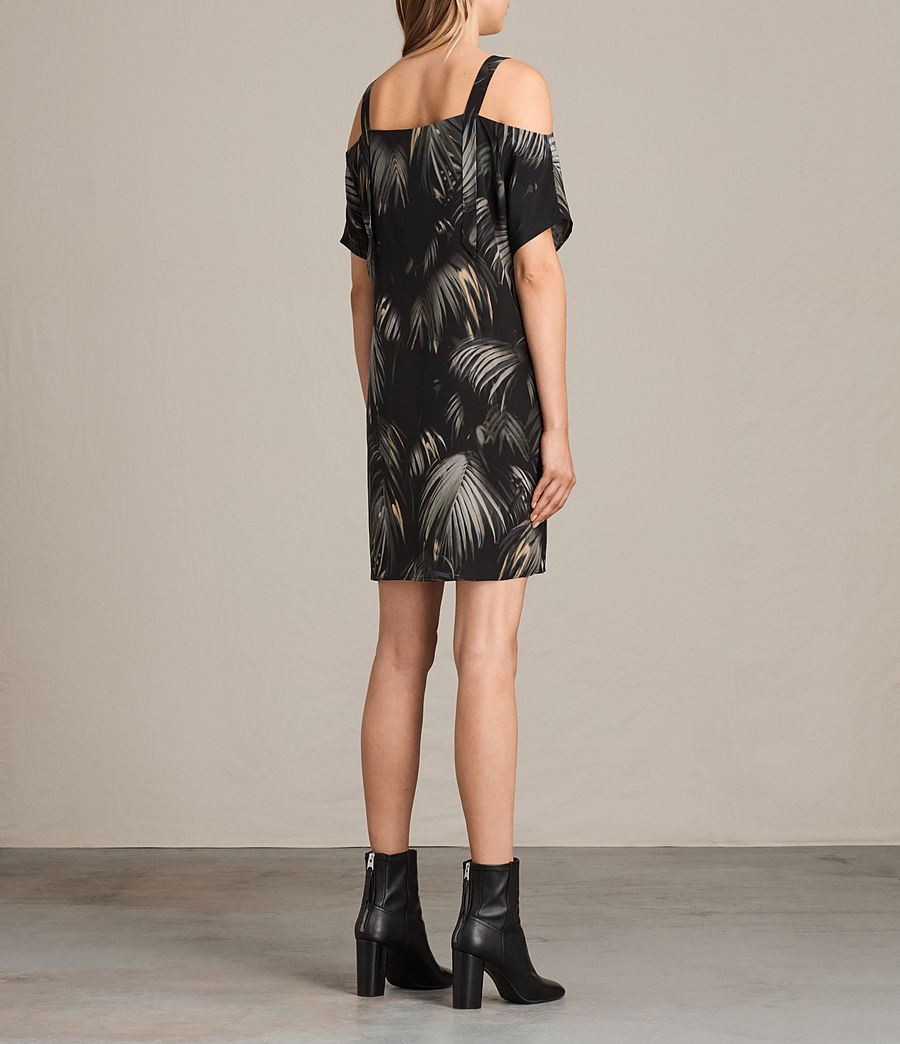 Womens Rae Neluwa Silk Dress (black) - Image 5