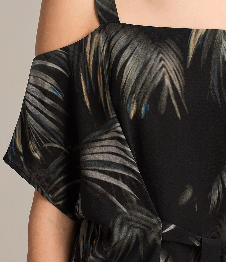 Womens Rae Neluwa Silk Dress (black) - Image 7
