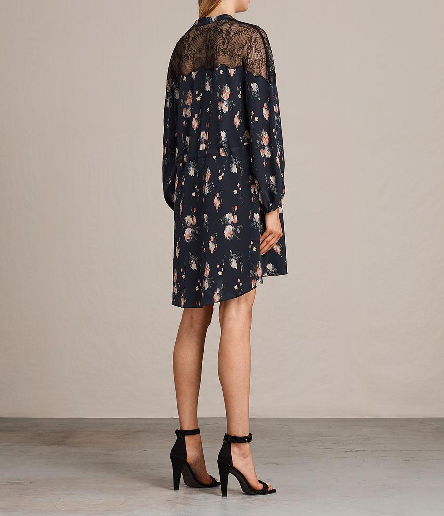 Womens Laya Meadow Silk Dress (mystic_blue) - Image 10