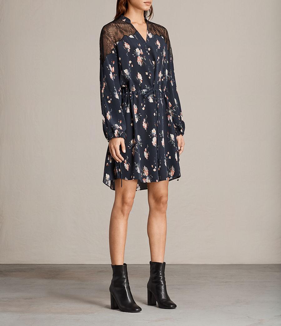 Womens Laya Meadow Silk Dress (mystic_blue) - Image 3