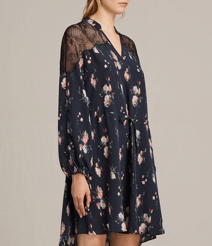 Womens Laya Meadow Silk Dress (mystic_blue) - Image 4