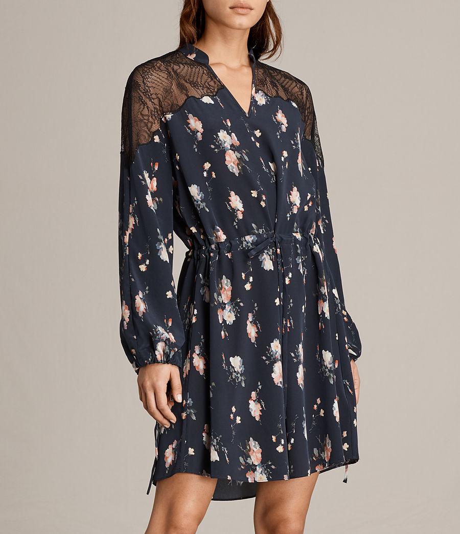 Womens Laya Meadow Silk Dress (mystic_blue) - Image 5