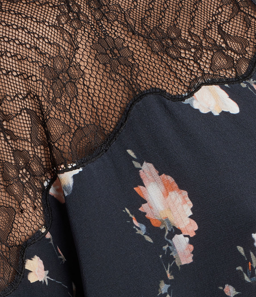 Womens Laya Meadow Silk Dress (mystic_blue) - Image 6