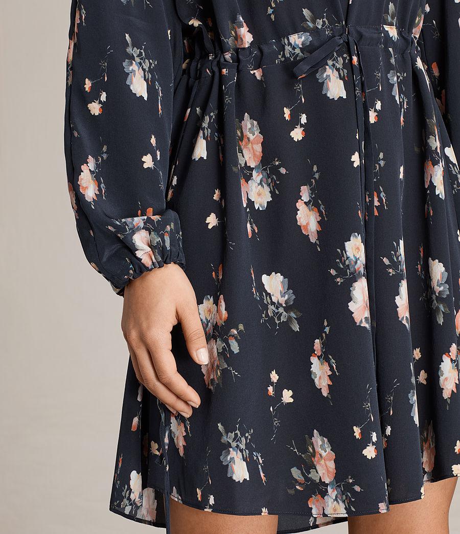 Womens Laya Meadow Silk Dress (mystic_blue) - Image 7