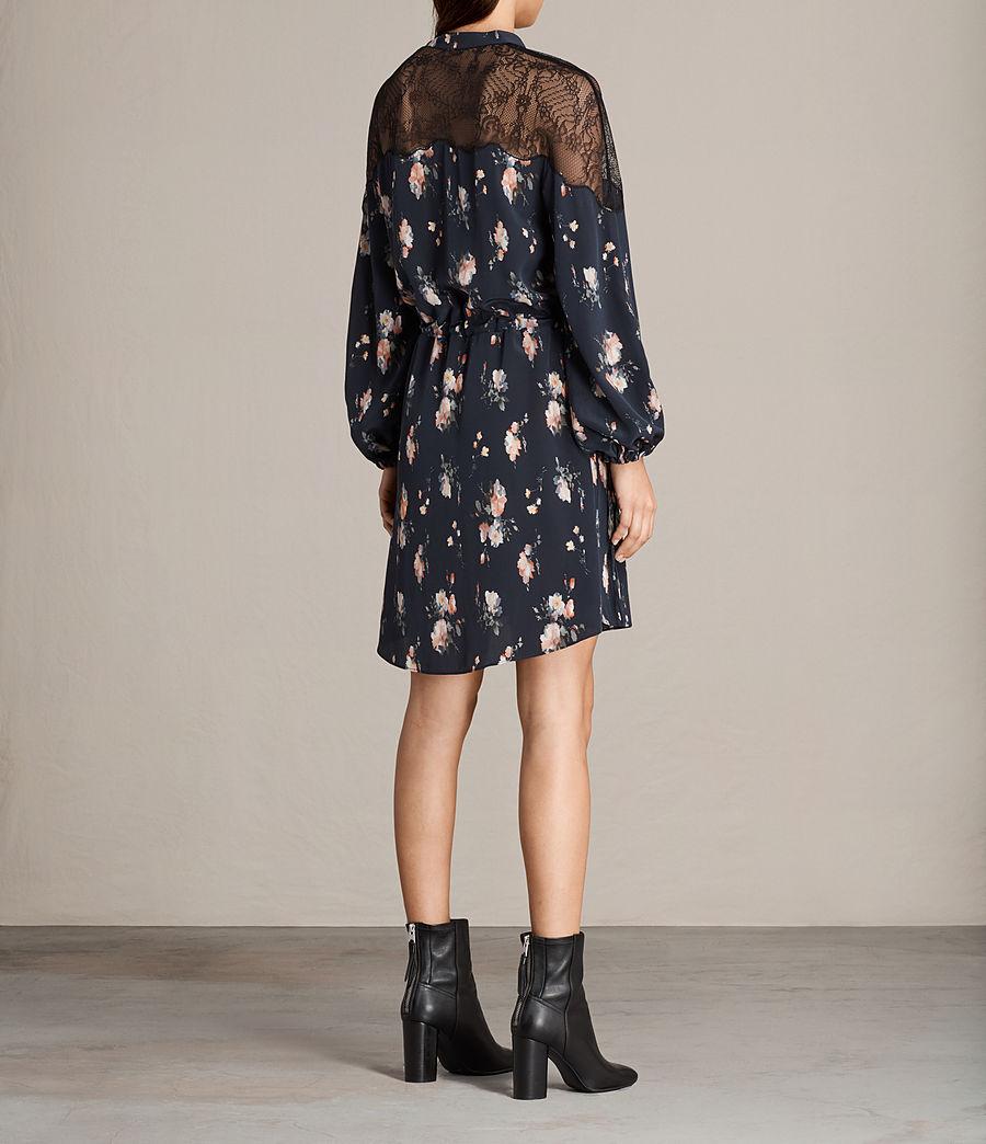 Womens Laya Meadow Silk Dress (mystic_blue) - Image 9