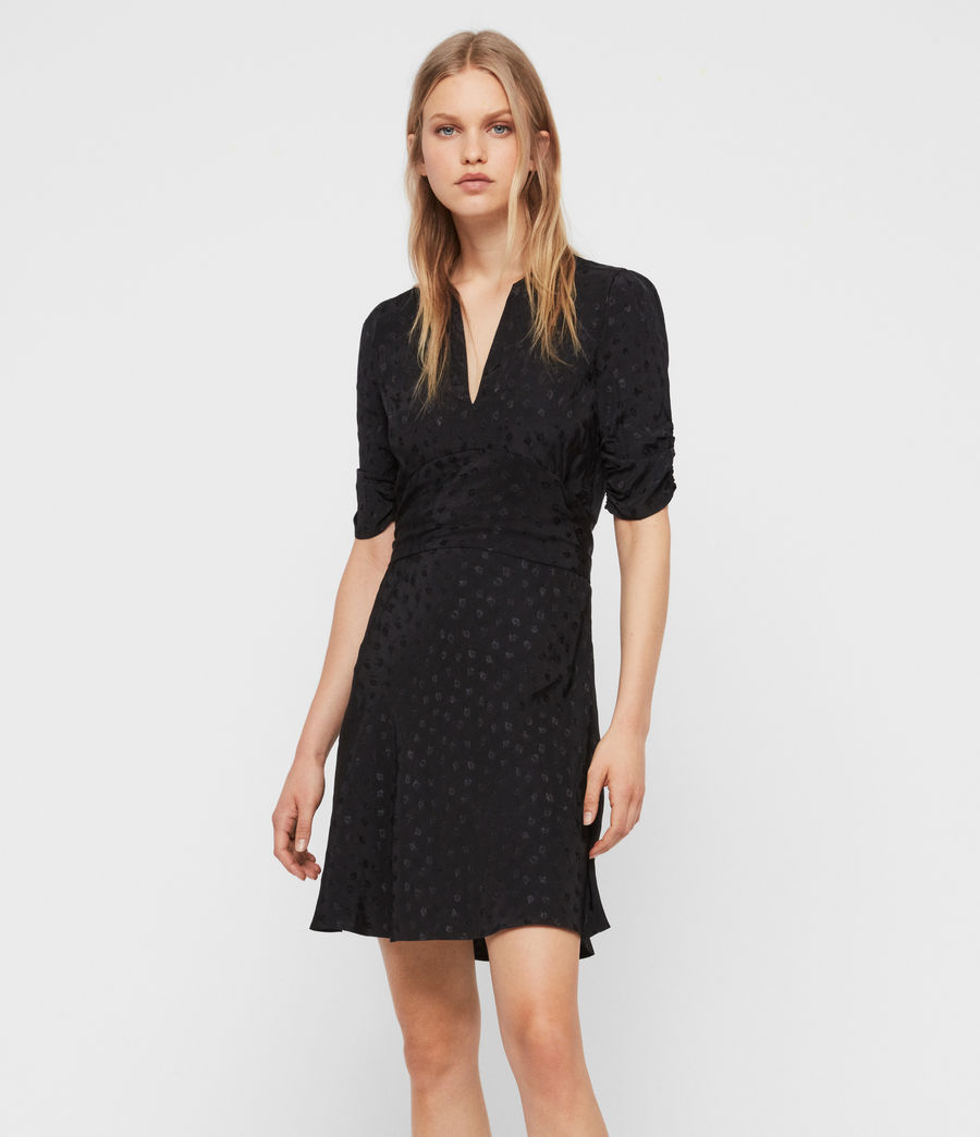 Womens Avery Floral Dress (black) - Image 1