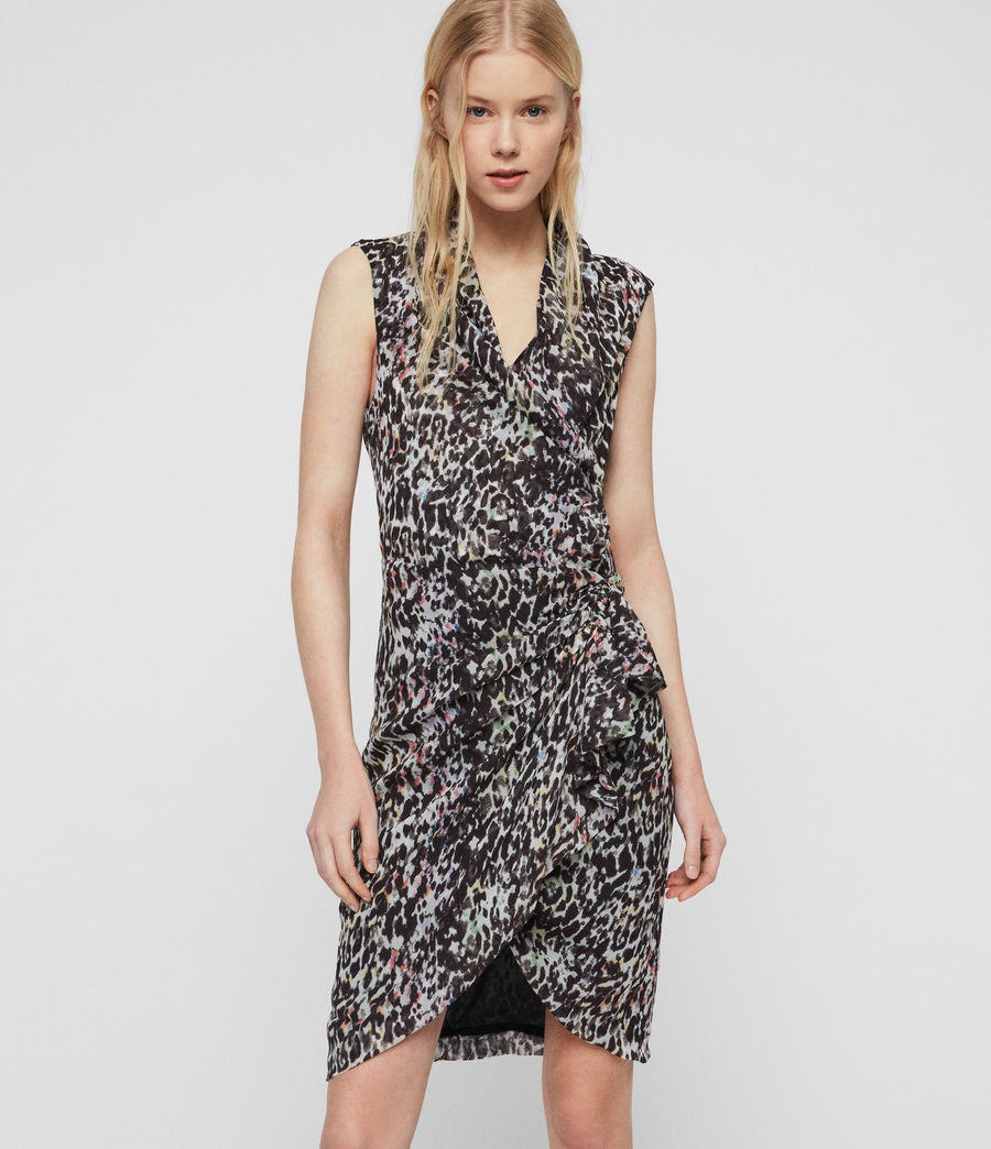 Damen Cancity Leofall Kleid (black_multi) - Image 1