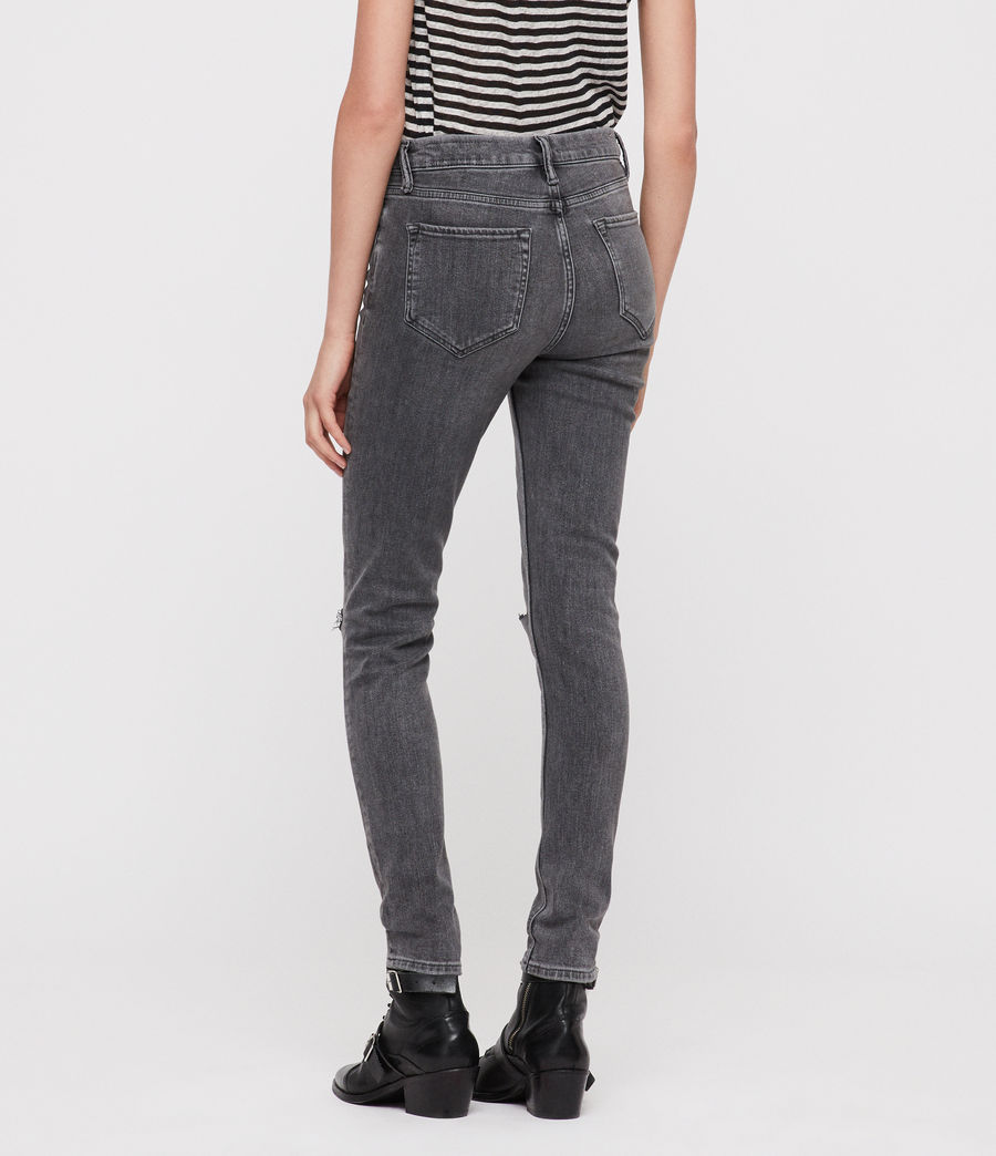 Damen Grace Slashed Jeans (washed_black) - Image 4