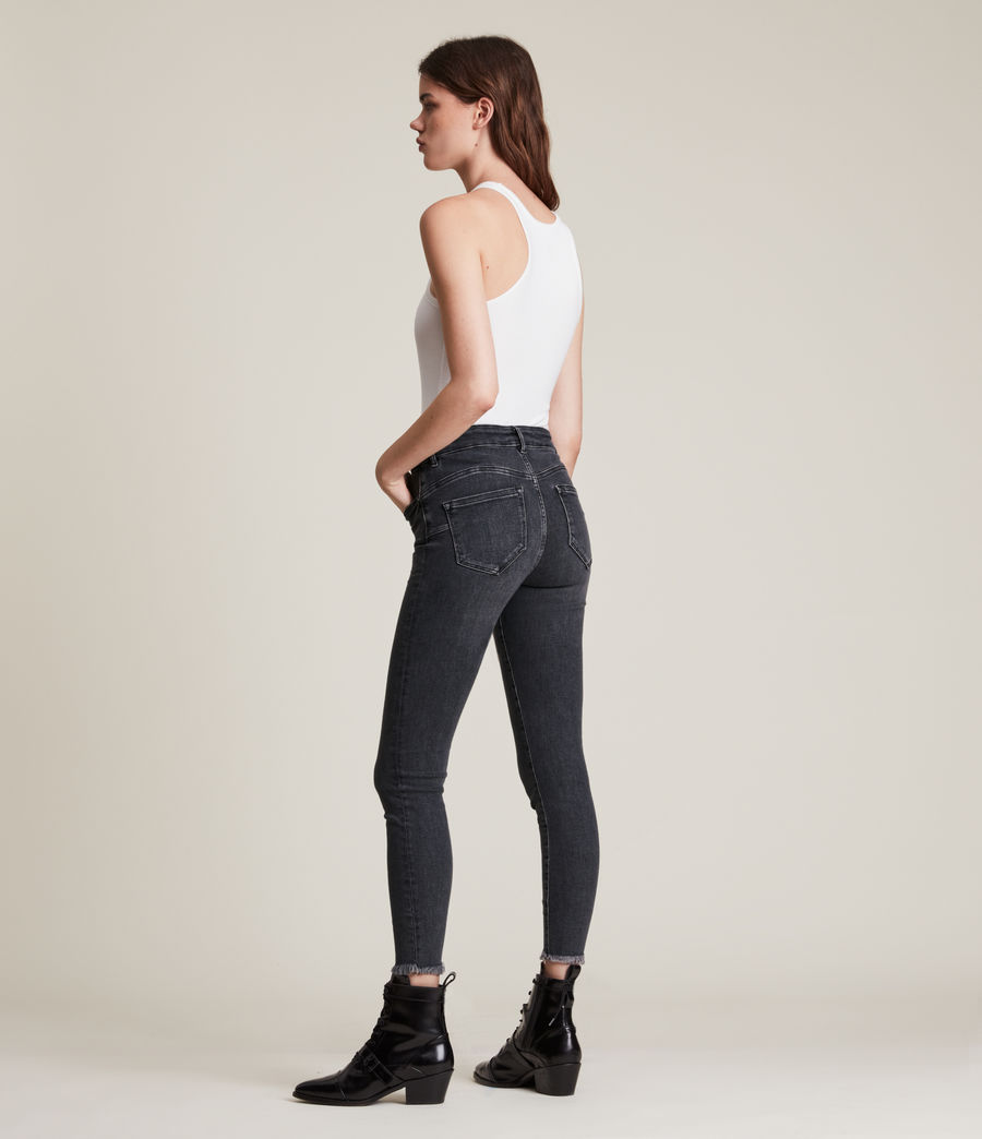 Women's Miller Mid Rise Stretch Push Up Skinny Jeans, Washed Black (washed_black) - Image 5