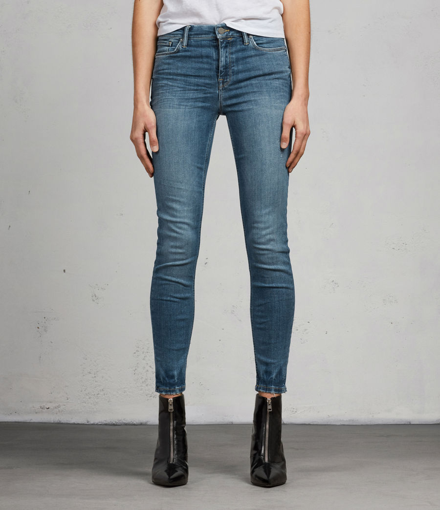 Women's Grace Ankle Skinny Jeans (fresh_blue) - Image 1