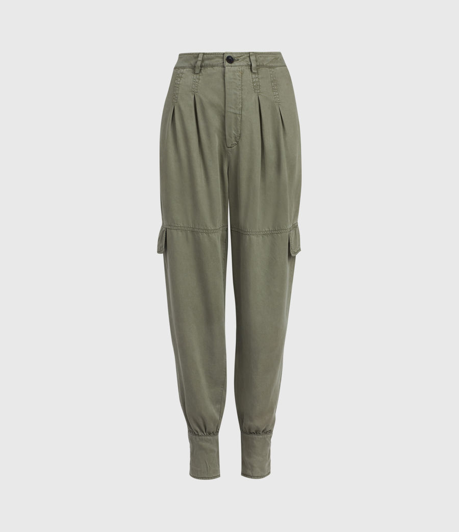 Womens Paxton High-Rise Pants (khaki_green) - Image 2