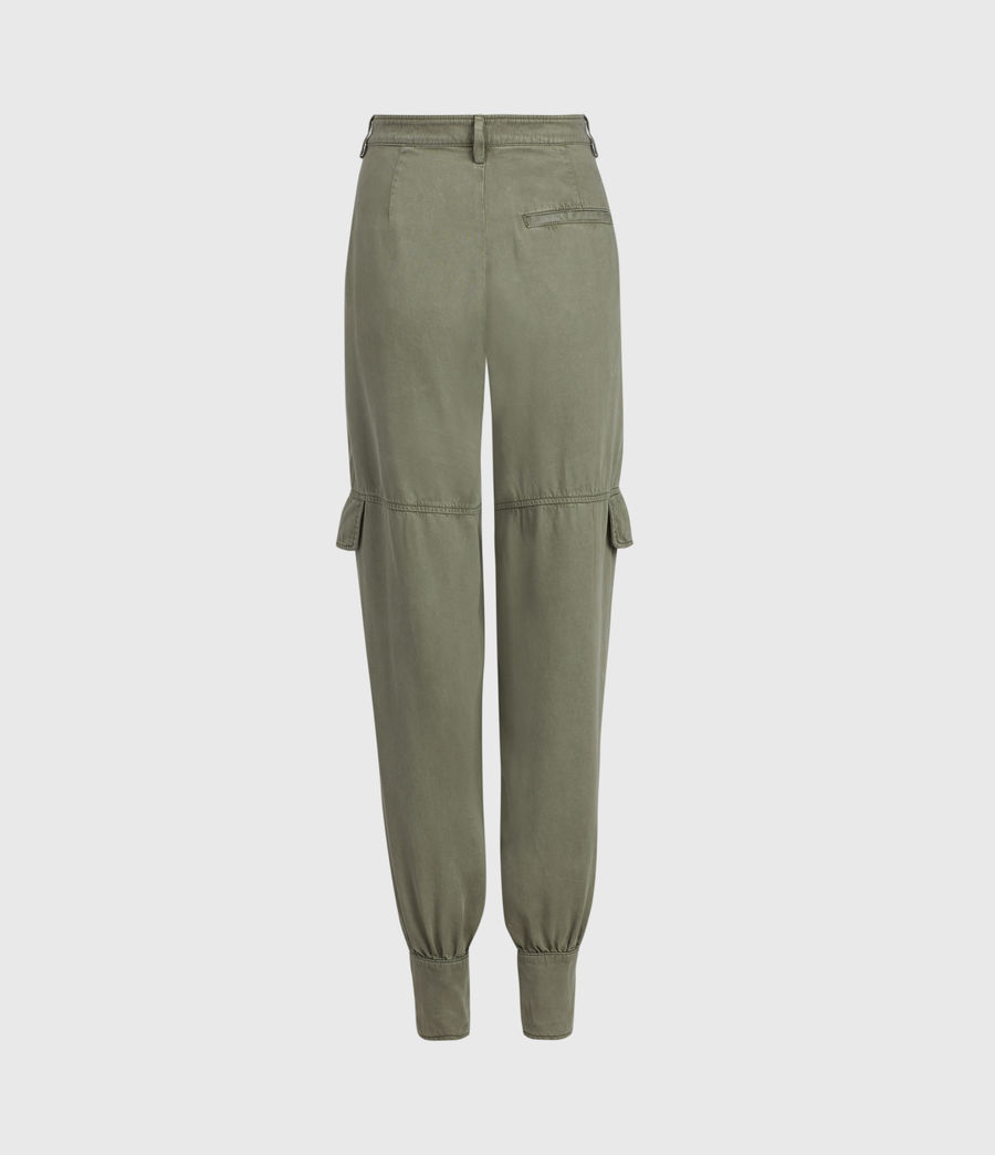 Womens Paxton High-Rise Pants (khaki_green) - Image 3