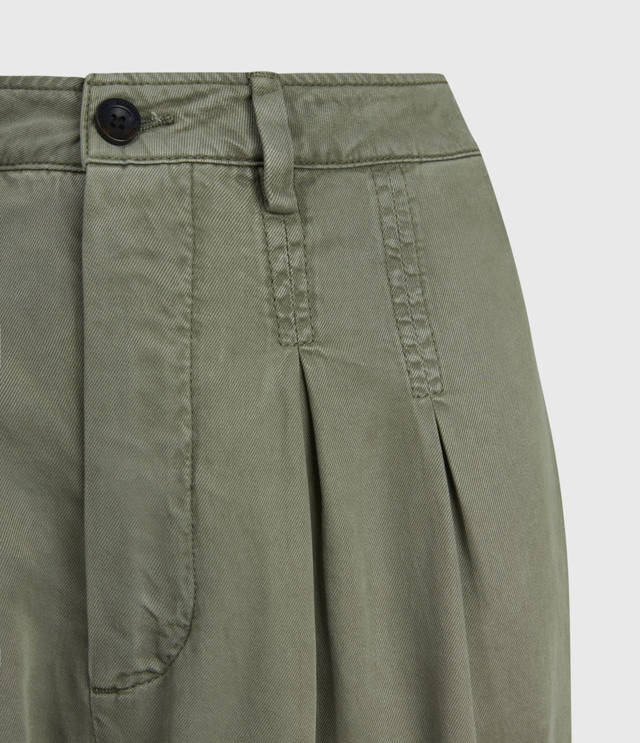 Womens Paxton High-Rise Pants (khaki_green) - Image 5