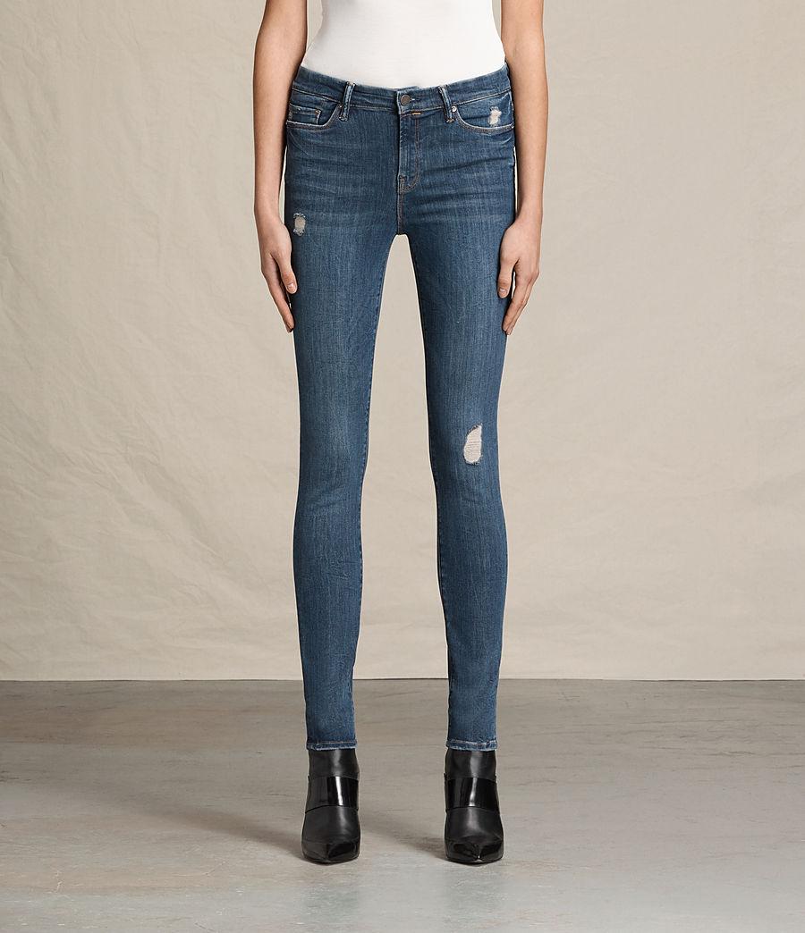 Women's Grace Jeans (dark_indigo_blue) - Image 1