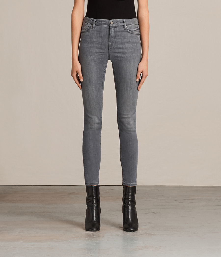 Womens Mast Skinny Low-Rise Jeans, Washed Grey (washed_grey) - Image 1