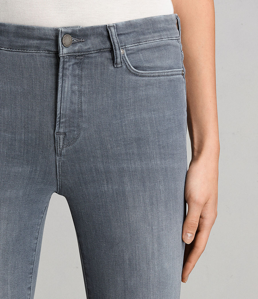 Womens Grace Slashed Jeans (Grey) - Image 3