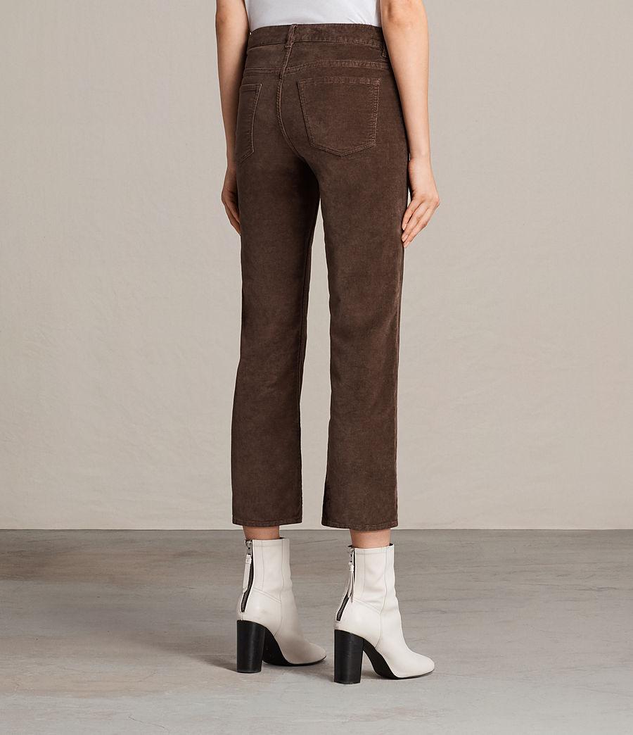 Damen Heidi Cropped Velvet Jeans (bitter_brown) - Image 2