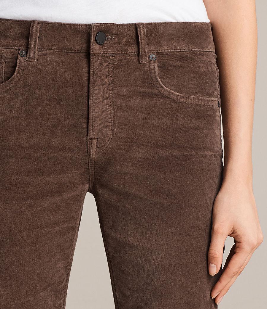 Damen Heidi Cropped Velvet Jeans (bitter_brown) - Image 3
