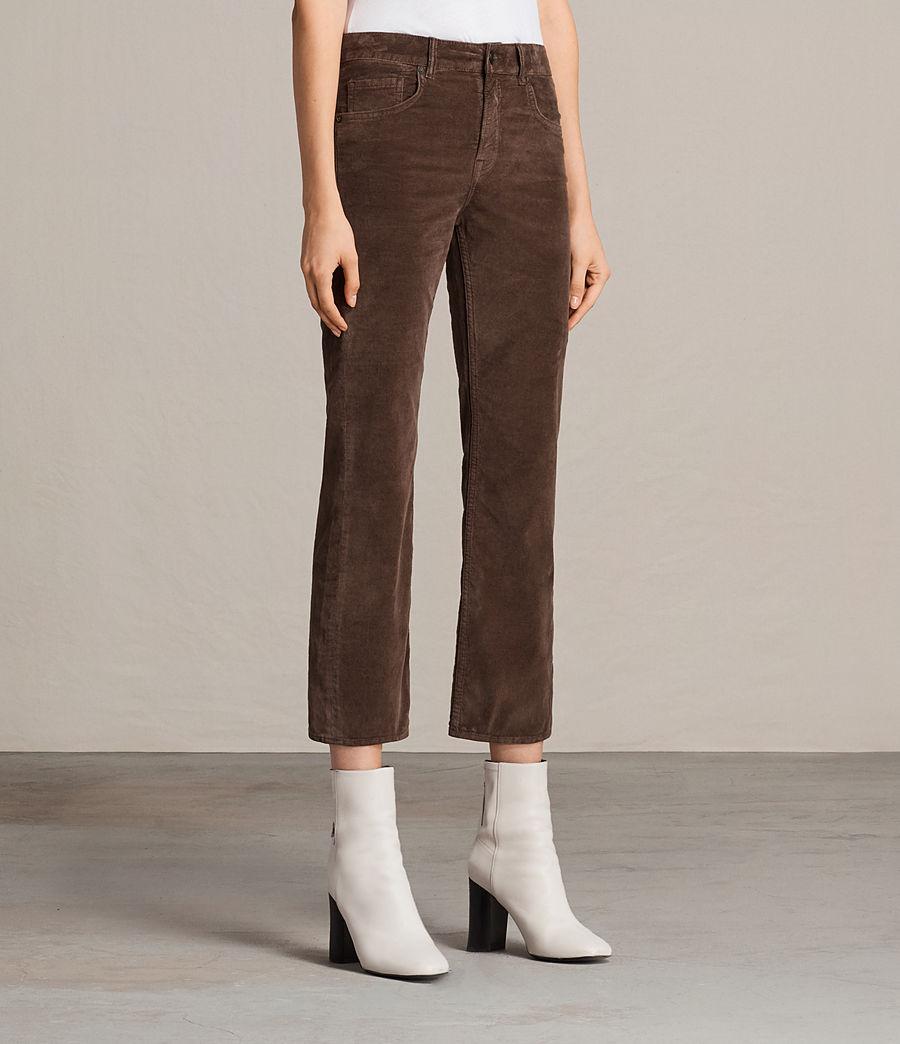Damen Heidi Cropped Velvet Jeans (bitter_brown) - Image 4