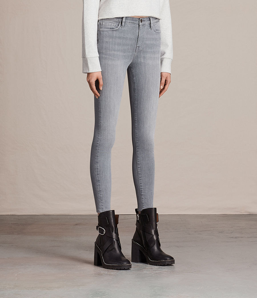 Womens Eve Ankle Jeans (stone_grey) - Image 4