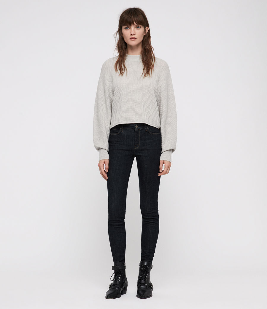 Women's Grace Skinny Jeans (rinse_indigo_blue) - Image 3
