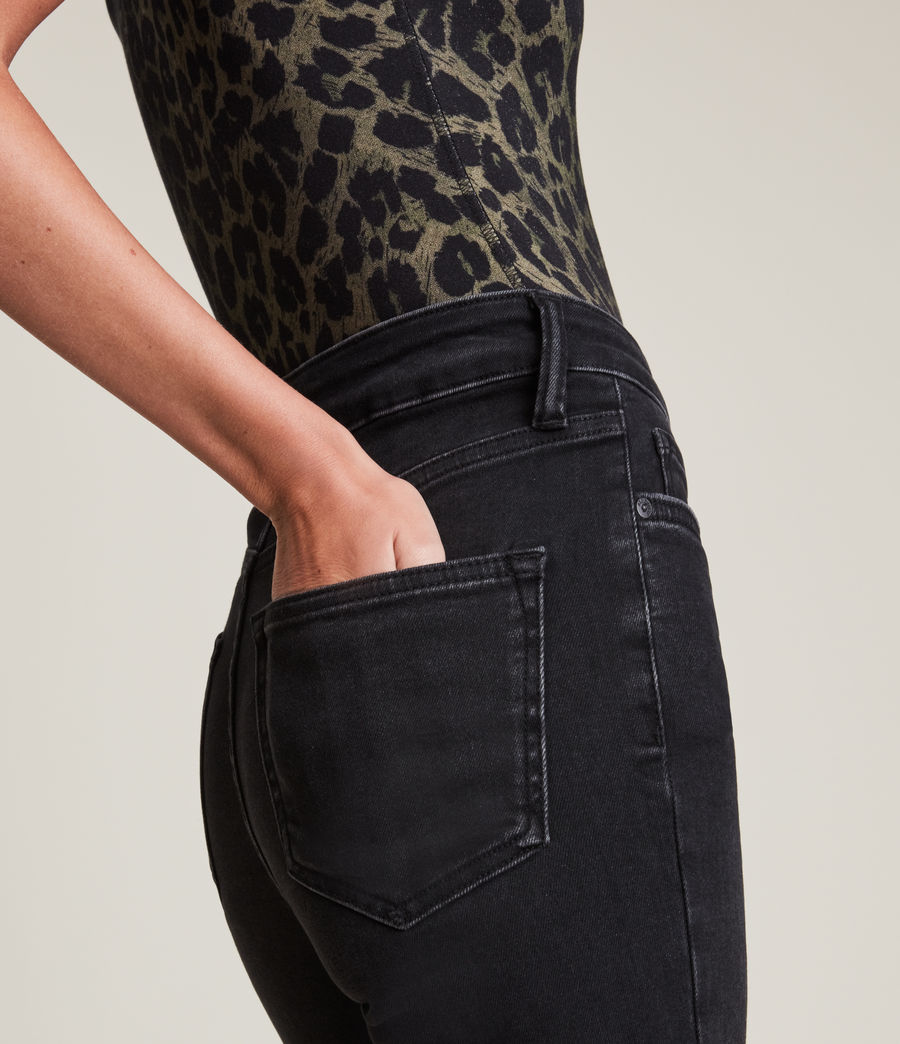 Women's Dax High-Rise Asymmetric Size Me Skinny Jeans (washed_black) - Image 3