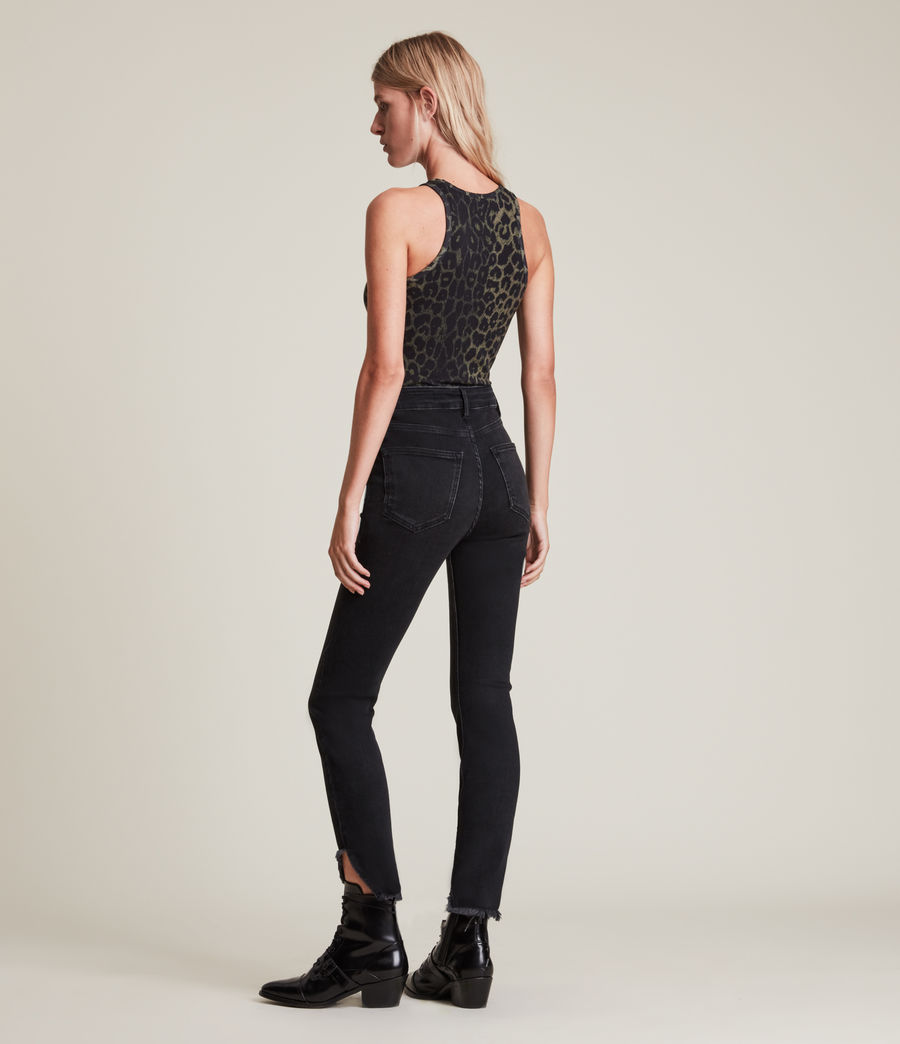 Women's Dax High-Rise Asymmetric Size Me Skinny Jeans (washed_black) - Image 4