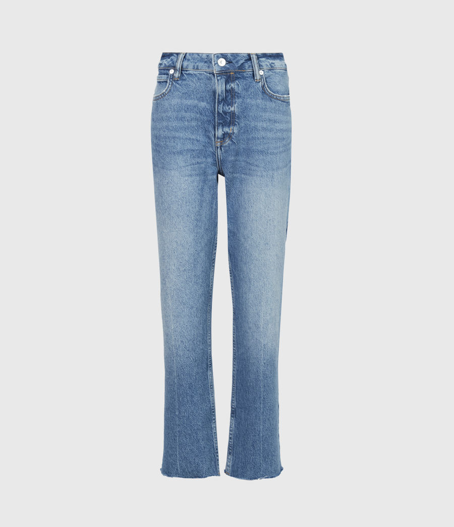 Women's Barely Cropped High-Rise Bootcut Jeans, Mid Indigo (mid_indigo) - Image 2