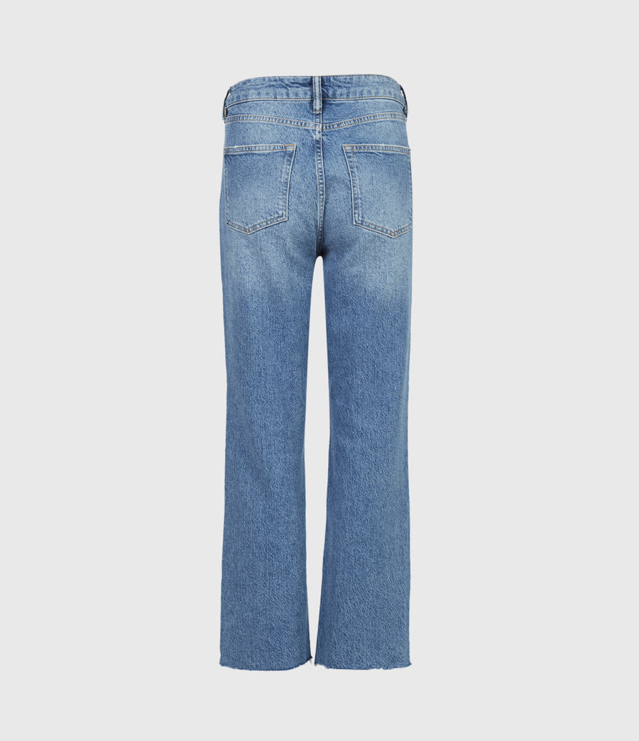 Women's Barely Cropped High-Rise Bootcut Jeans, Mid Indigo (mid_indigo) - Image 3