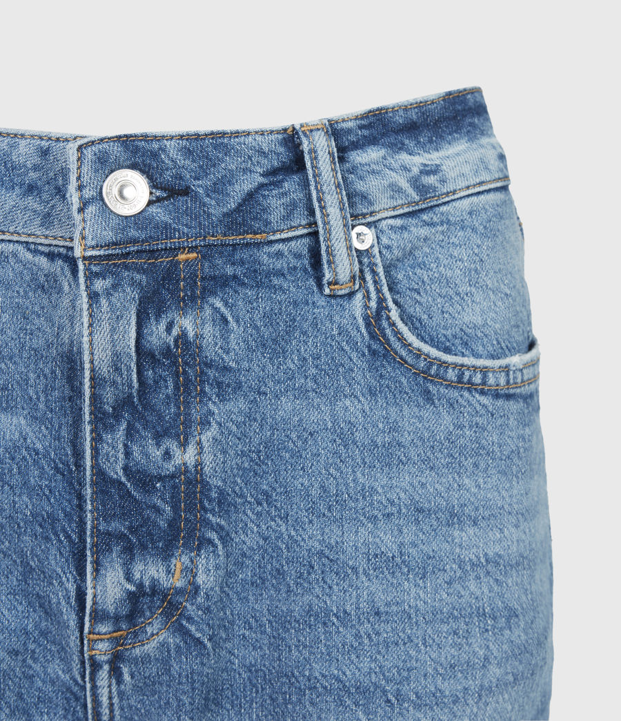 Women's Barely Cropped High-Rise Bootcut Jeans, Mid Indigo (mid_indigo) - Image 5