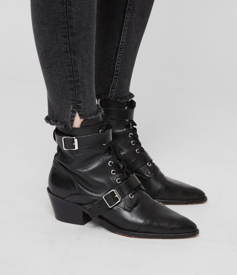 Donne Jeans Grace Ankle Fray (washed_black) - Image 2