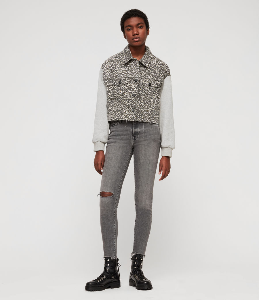 Women's Grace Destroy Ankle Skinny Jeans (destroy_grey) - Image 3