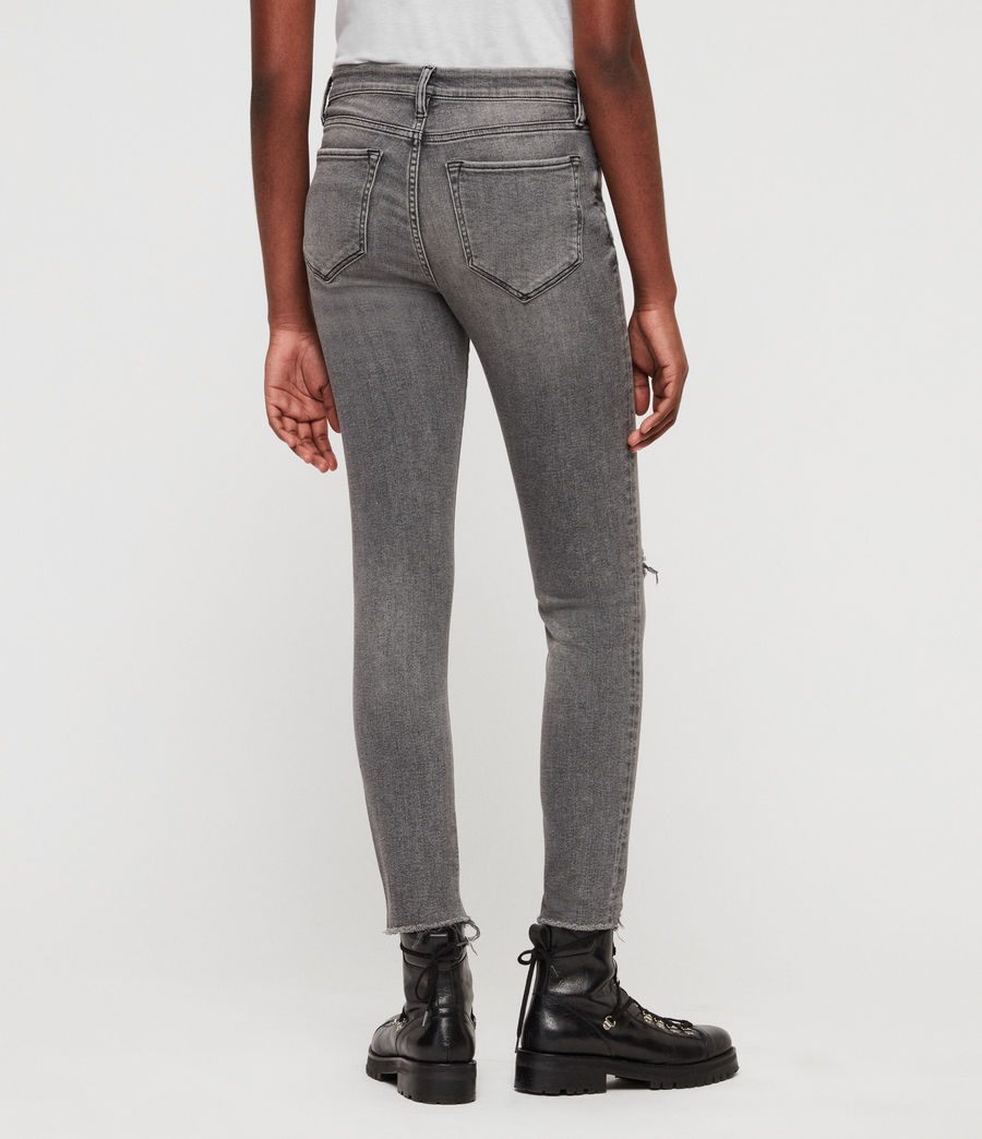 Women's Grace Destroy Ankle Skinny Jeans (destroy_grey) - Image 4
