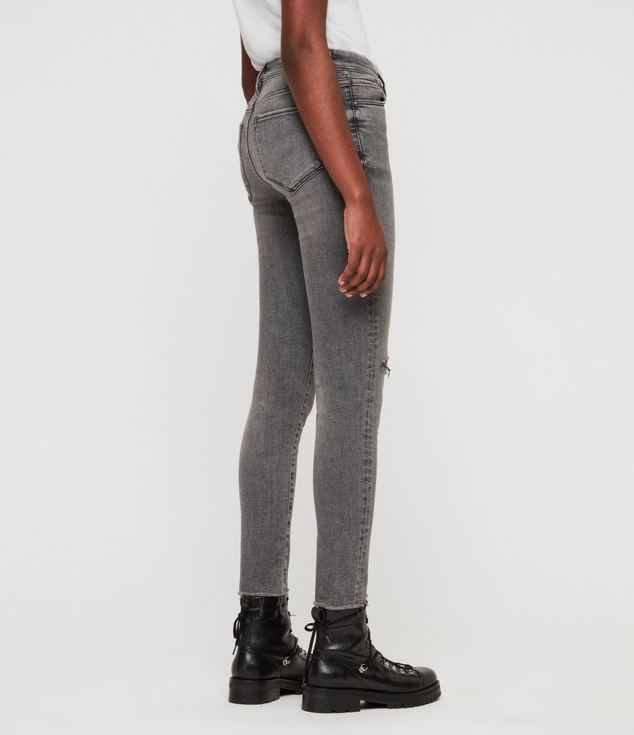 Women's Grace Destroy Ankle Skinny Jeans (destroy_grey) - Image 6