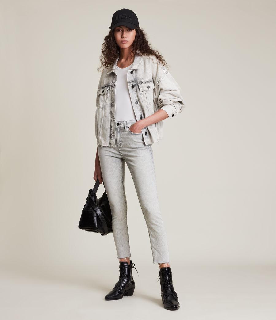 Womens Dax High-Rise Super Stretch Skinny Jeans, Snow Wash Grey (snow_wash_grey) - Image 1