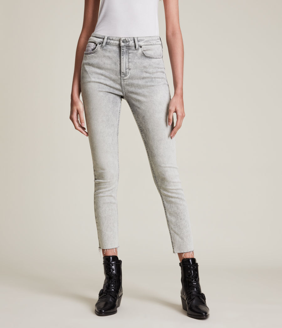Womens Dax High-Rise Super Stretch Skinny Jeans, Snow Wash Grey (snow_wash_grey) - Image 2