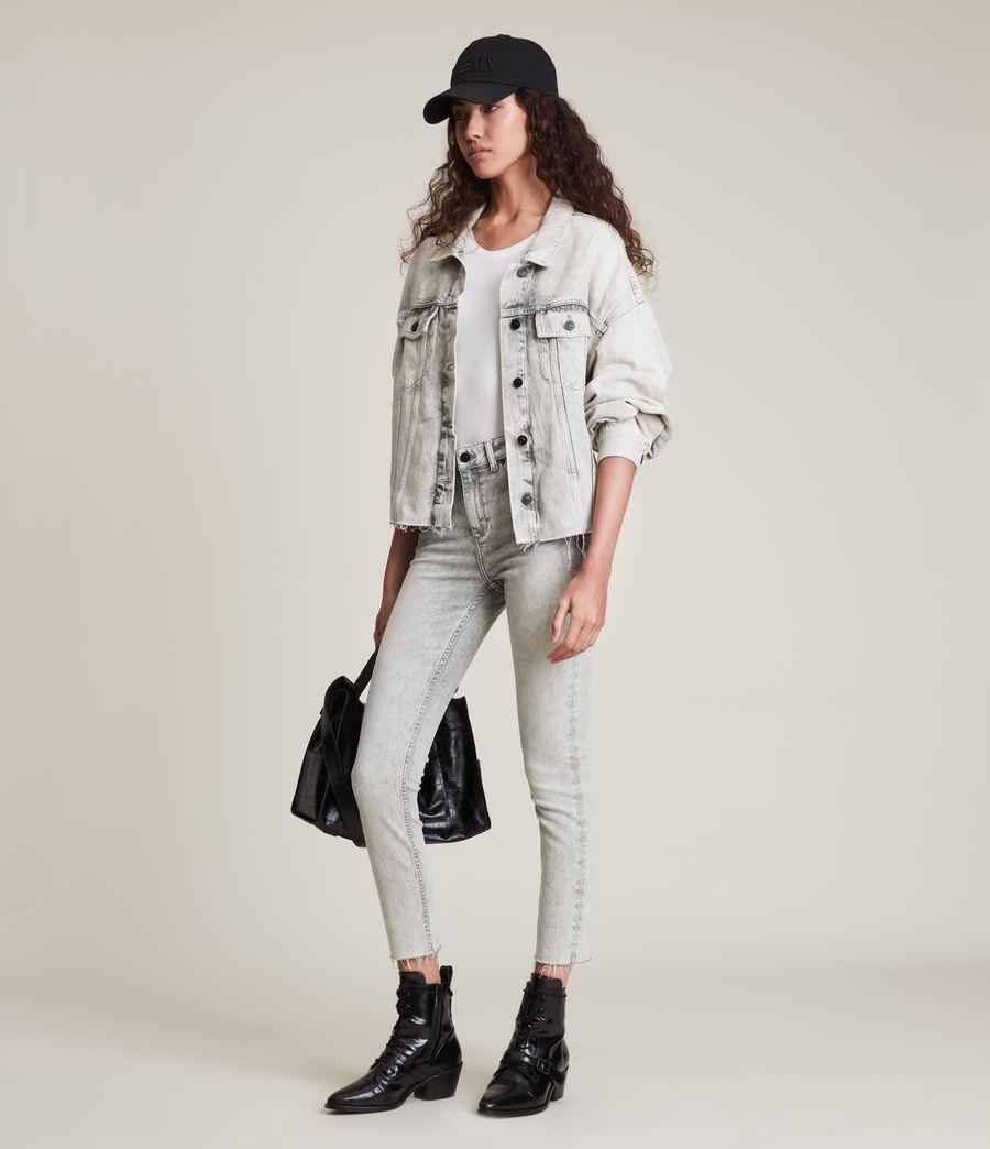Womens Dax High-Rise Super Stretch Skinny Jeans, Snow Wash Grey (snow_wash_grey) - Image 4