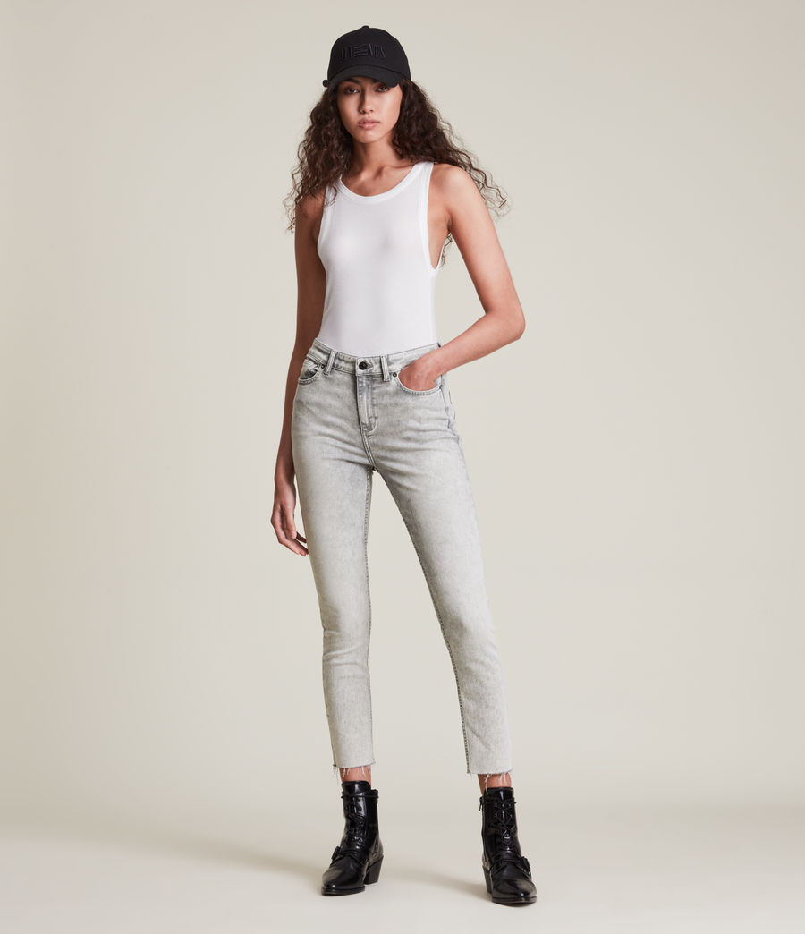 Womens Dax High-Rise Super Stretch Skinny Jeans, Snow Wash Grey (snow_wash_grey) - Image 5