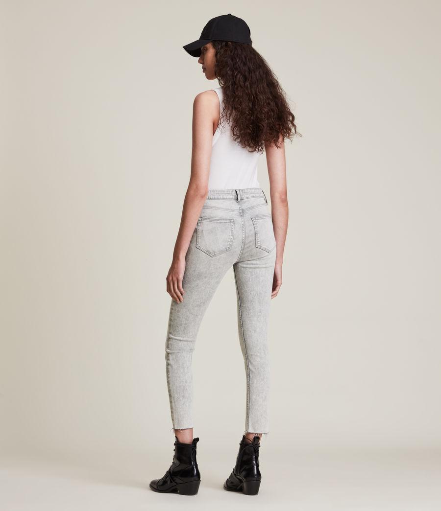 Womens Dax High-Rise Super Stretch Skinny Jeans, Snow Wash Grey (snow_wash_grey) - Image 6