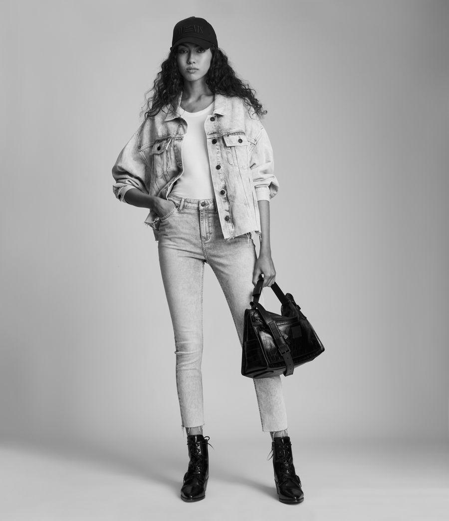 Womens Dax High-Rise Super Stretch Skinny Jeans, Snow Wash Grey (snow_wash_grey) - Image 7