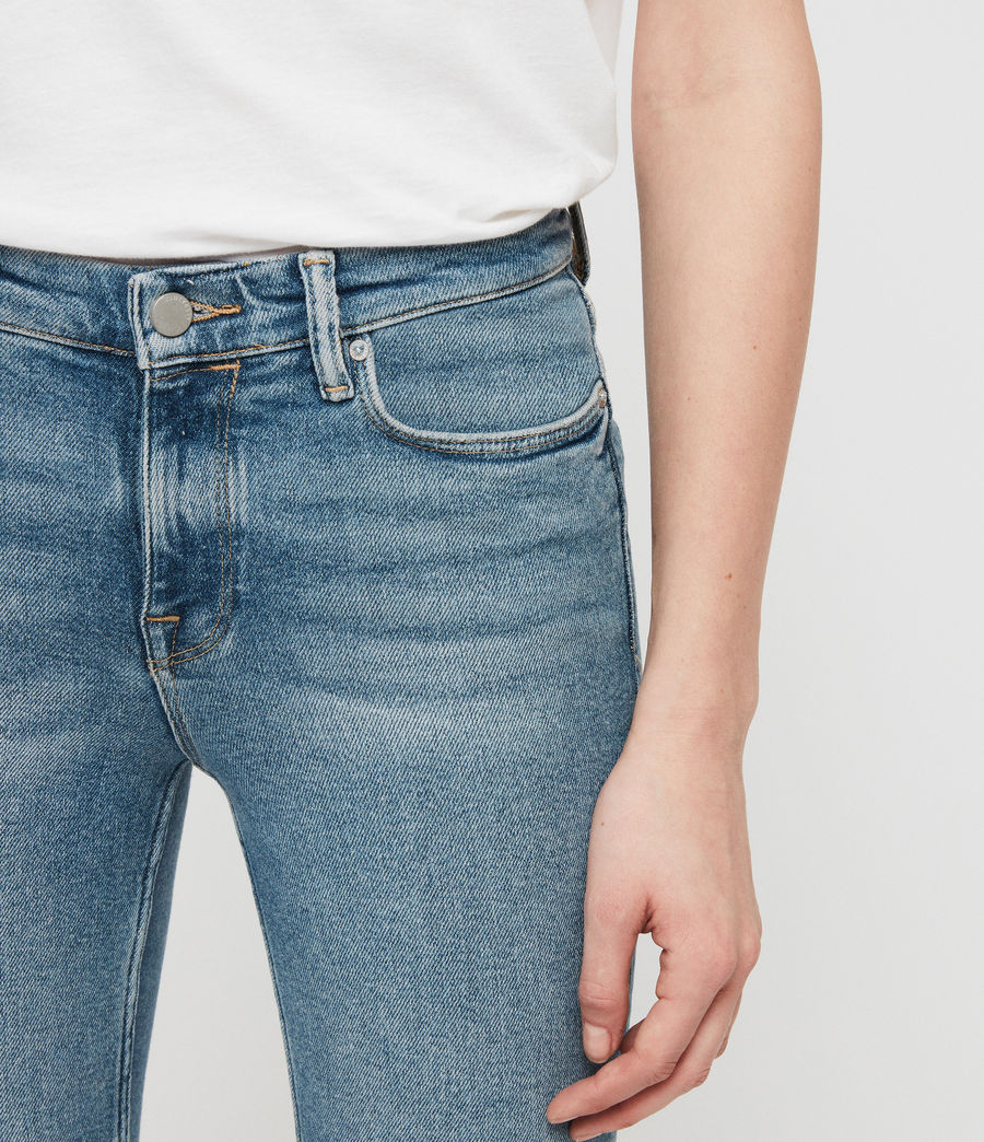 Womens Grace Cropped Zip Skinny Jeans (indigo_blue) - Image 4