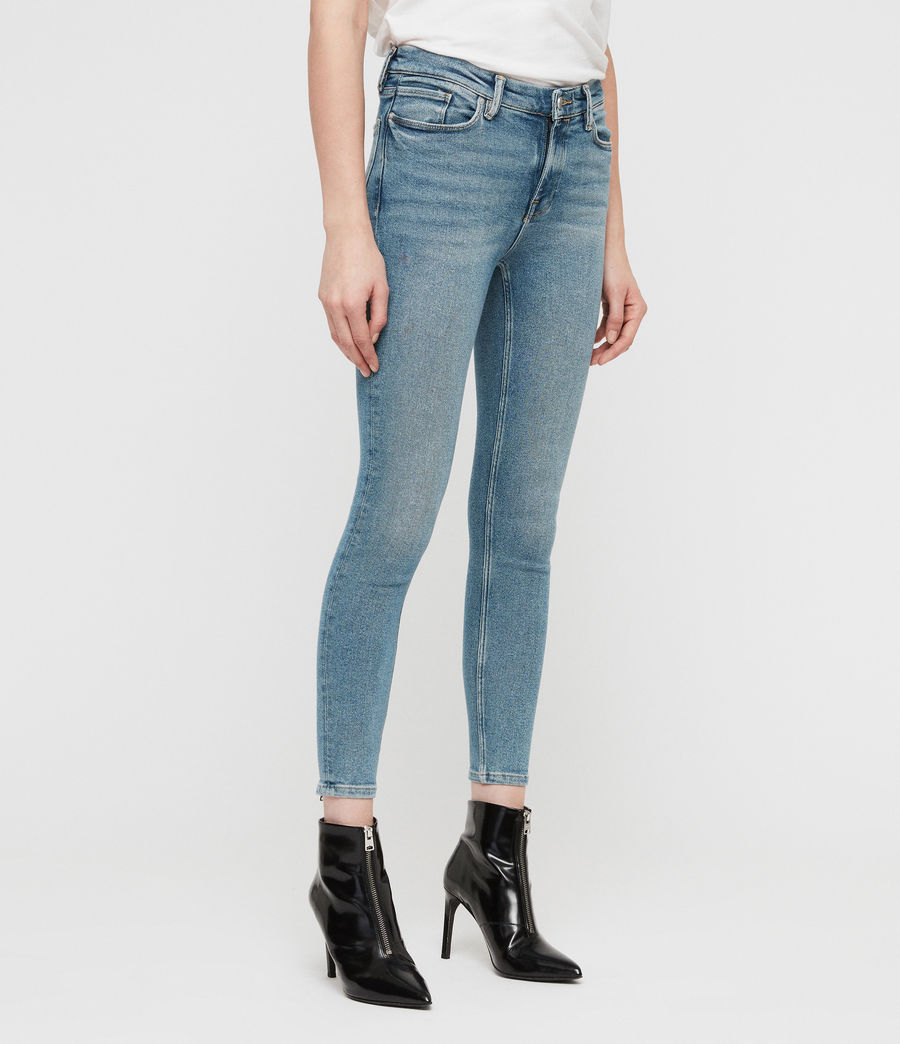 Womens Grace Cropped Zip Skinny Jeans (indigo_blue) - Image 5