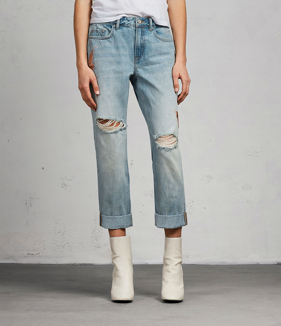 Women's Birds Alana Boys Jeans (indigo_blue) - Image 3